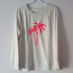 🆕️Palm Tree Terry Pullover Sweater